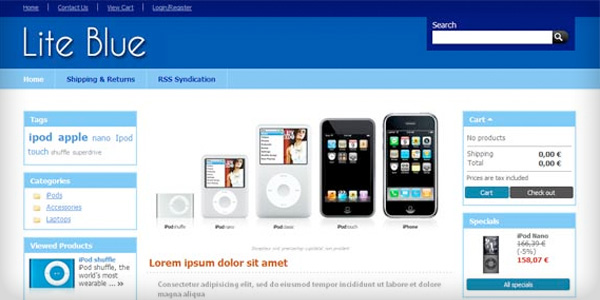 theme-prestashop-1.4-lite-blue