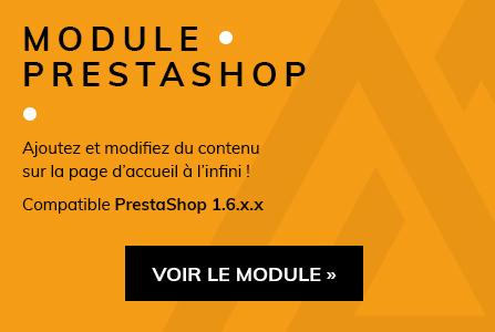 Module PrestaShop Contenu Accueil