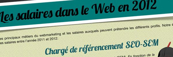 Infographie : les salaires du web en 2012