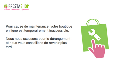 page-maintenance-prestashop