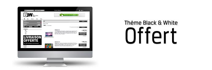 Thème PrestaShop 1.4 Black & White offert !