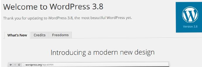 WordPress 3.8 : quelles nouveautés ?
