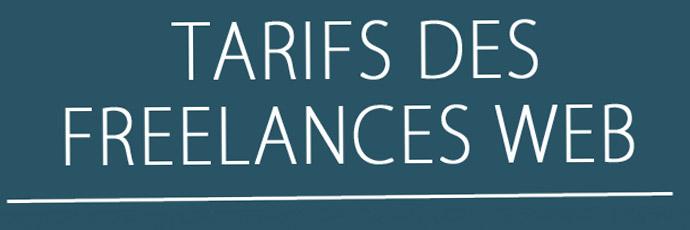 Tarifs des freelances web