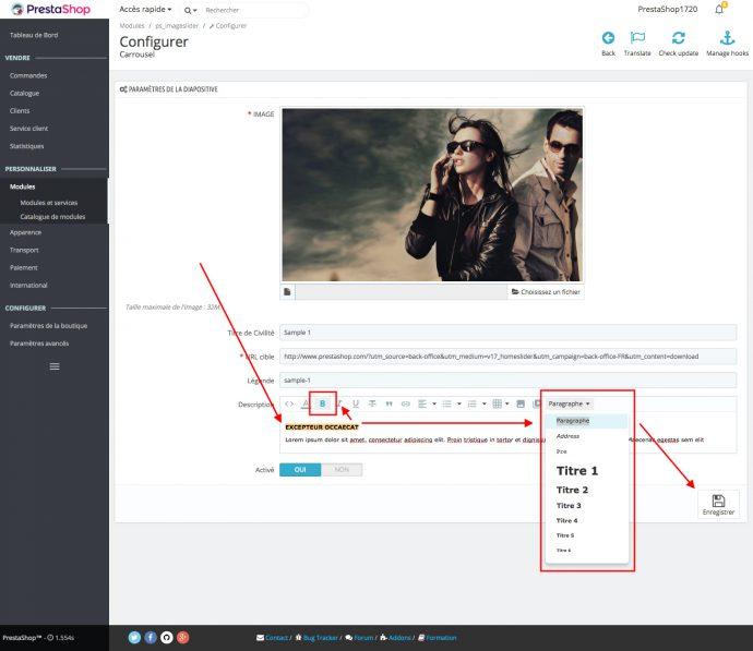 améliorer référencement prestashop 1.7 slider