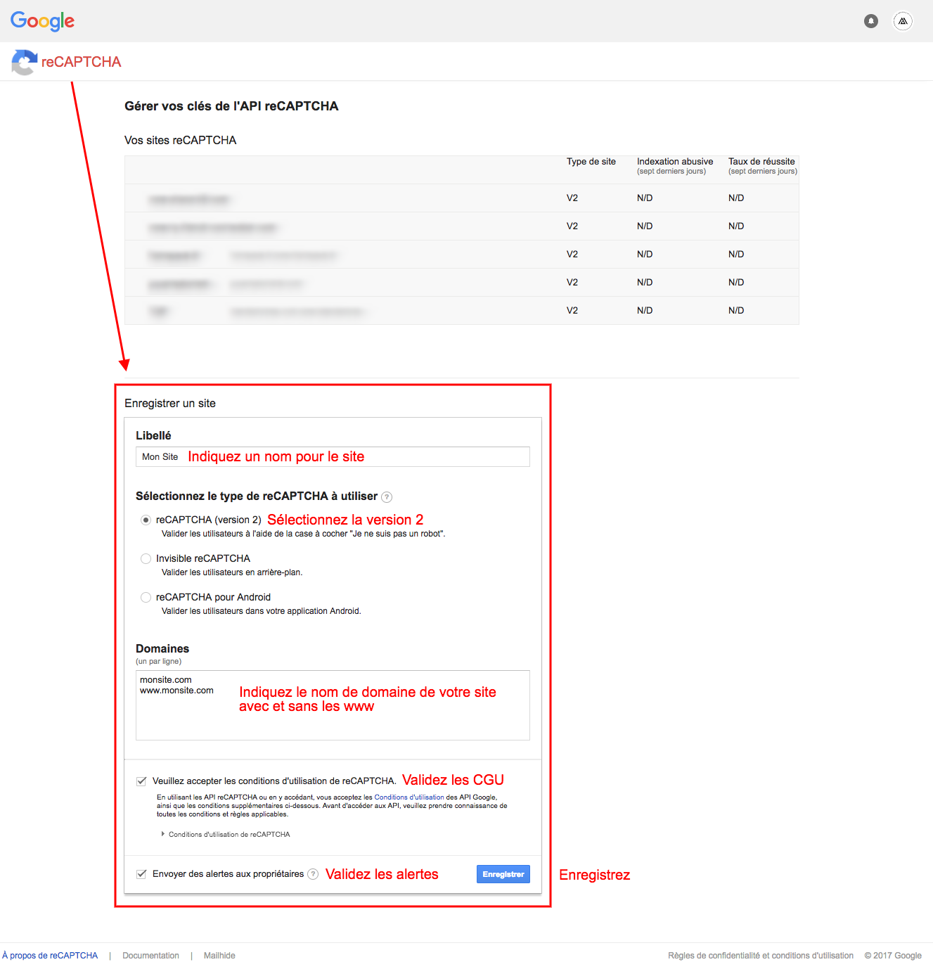 how to put recaptcha in a google site
