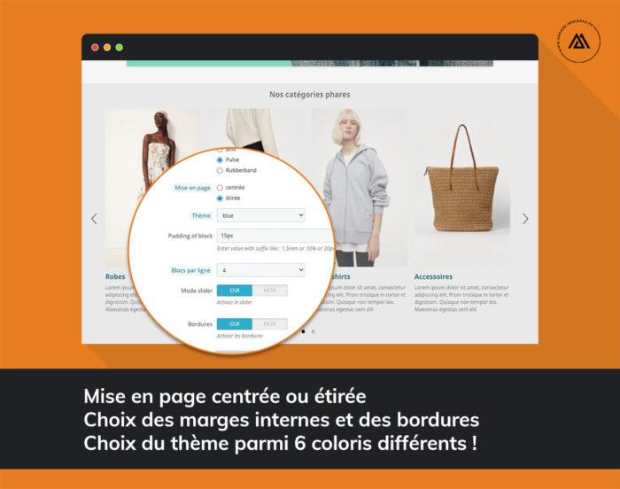 Module PrestaShop block catégories page d'accueil