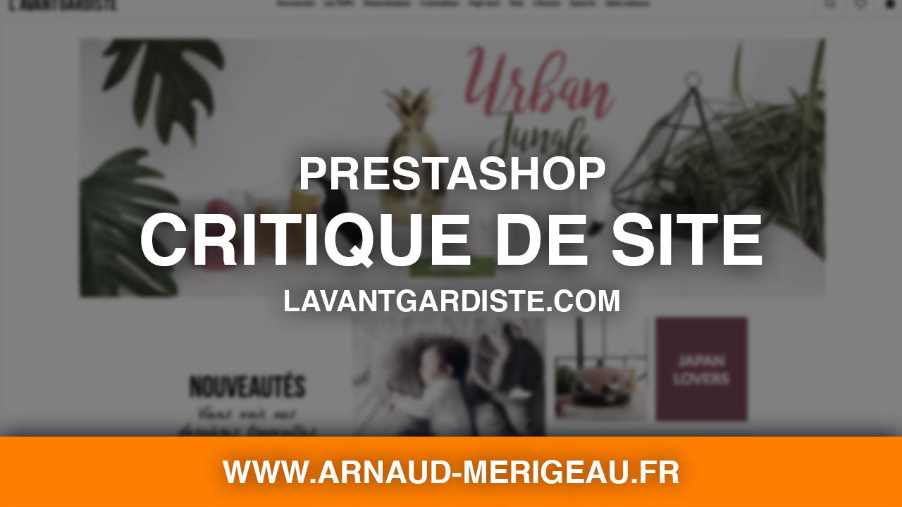 Critique de site PrestaShop : Lavantgardiste.com
