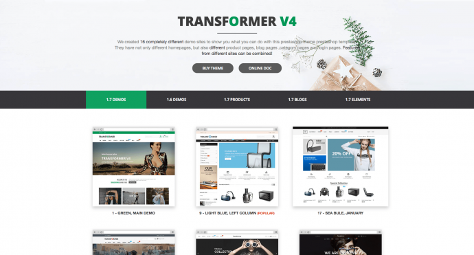 theme-prestashop-transformer-demos