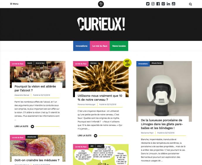 curieux projet wordpress accueil