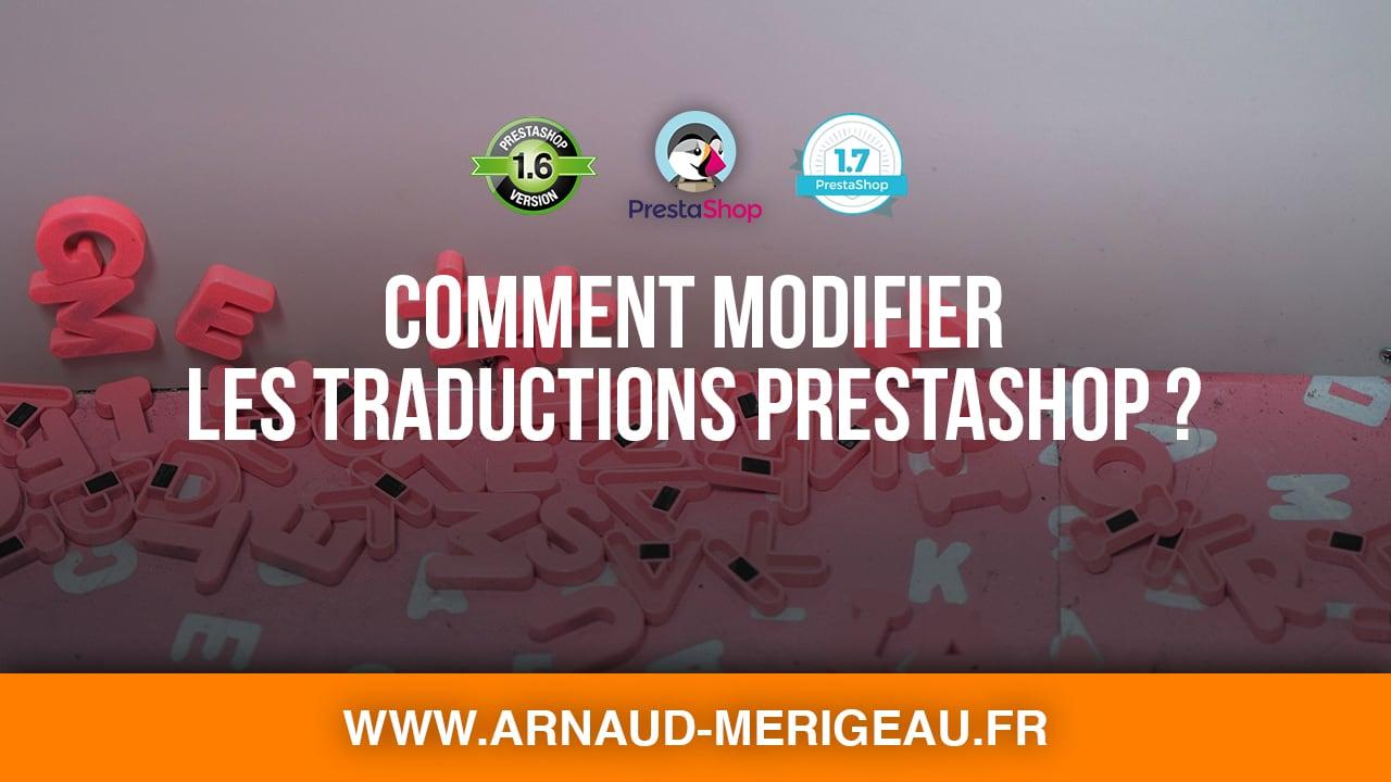 Comment modifier les traductions des textes sous PrestaShop ?