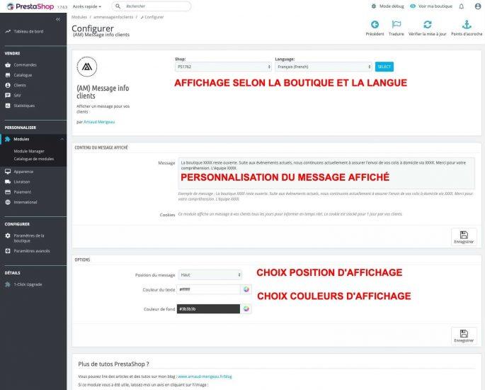 module-prestashop-message-information-backoffice