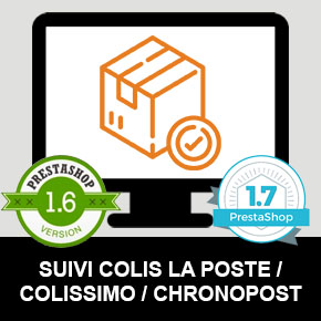 Module PrestaShop 1.6 / 1.7 Suivi Colis La Poste / Colissimo / Chronopost