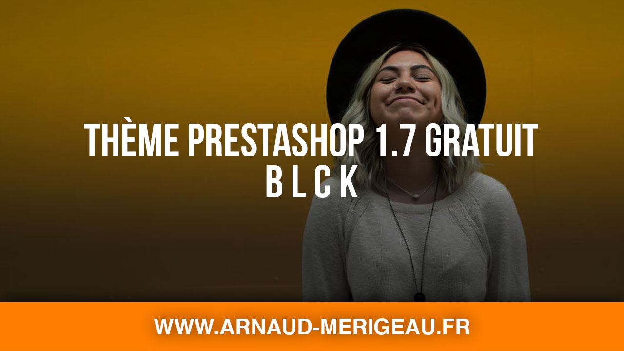 Thème PrestaShop 1.7 gratuit : BLCK