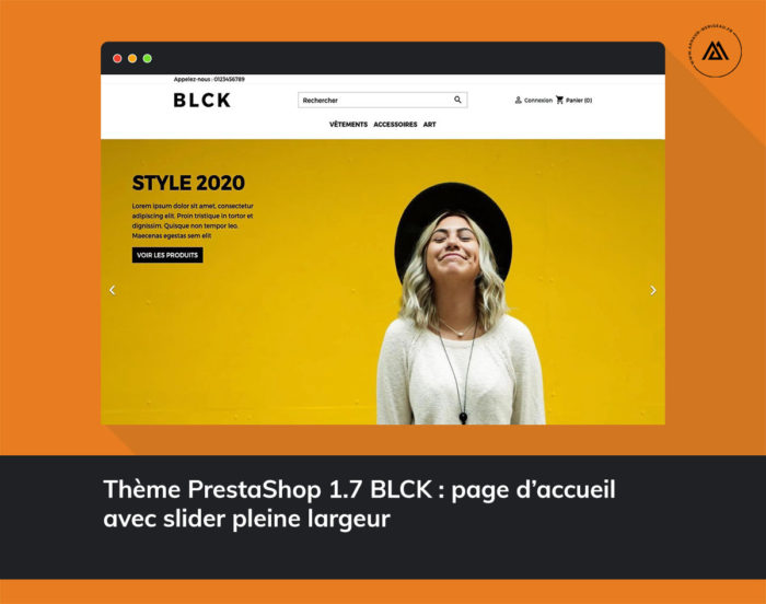 thème PrestaShop 1.7 responsive blck accueil