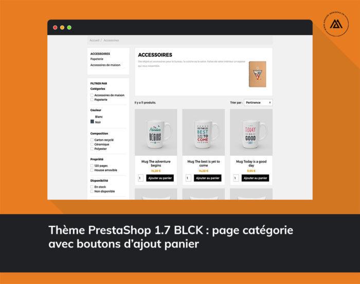 thème PrestaShop 1.7 responsive blck catégorie